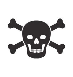 Monochrome silhouette wiht skull and bones vector