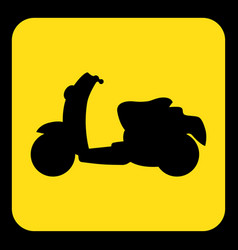 Yellow black information sign - scooter icon vector