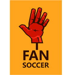 football fan hand vector image