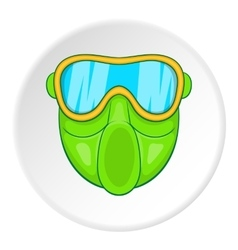 Mask for paintball icon cartoon style vector image vector image
