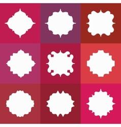 Set of Elegant White Badges or Empty Frames vector image
