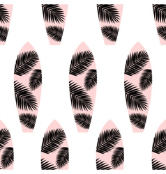 Surf Boards Seamless Pattern vector image