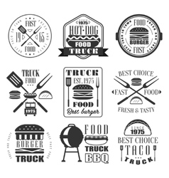 Burger and Fast Food Icon Set vector image