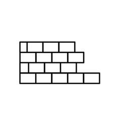 half brick wall icon vector image