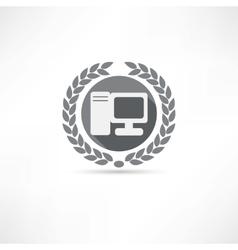 my pc icon vector image