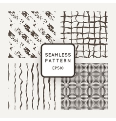 Set of seamless pattern of hand-drawn lines vector image vector image