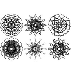 spirograph shapes design elements vector image vector image