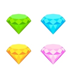 Collection of diamonds vector image vector image