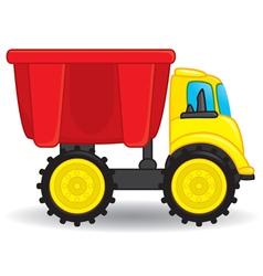 Dump truck toy vector