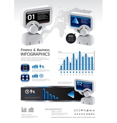 elements of business and finance vector image vector image