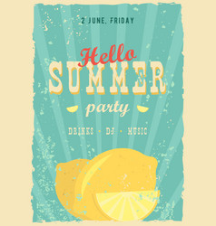 hello summer poster summer background effects vector image vector image