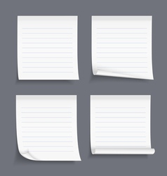 Lined sticky notes vector