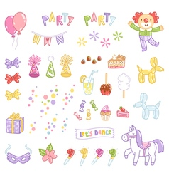Party accessories vector image vector image