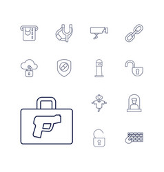 13 security icons vector