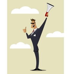 Abstract Businessman with Megaphone vector image