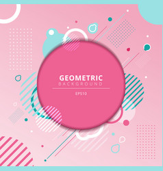 abstract geometric circles frame with light blue vector image
