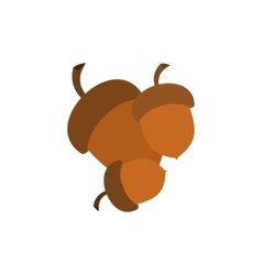 Acorns fork icon vector image