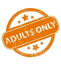 Adults only grunge icon vector