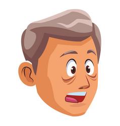 Alzheimer old man face vector