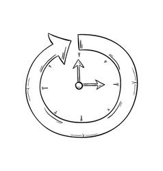 Arrow and clock vector
