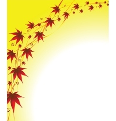 autumn background leaves vector image