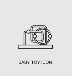Baby toy icon vector