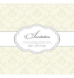 Background vintage label Banner flower frame vector image