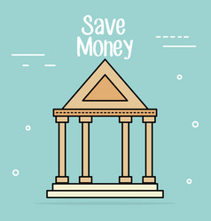 bank building save money icon vector image