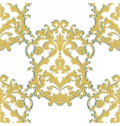 Baroque damask ornament pattern vector