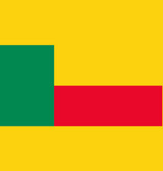 Benin national flag with official colors vector