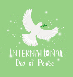 bird peace vector image