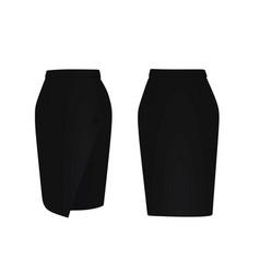 black skirt vector image