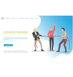 business training pulling rope competition worker vector image