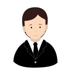 Businessman suit tie icon vector