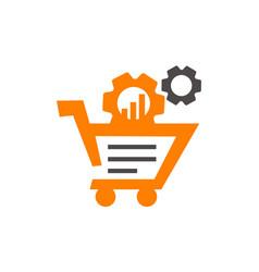 Cart gear online vector
