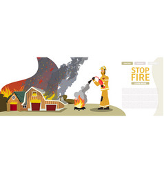 Cartoon fire extinguishing vector