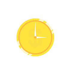 clock with gold coin vector image