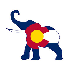 Colorado republican elephant flag vector