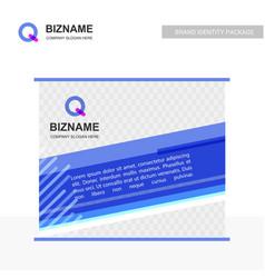 company bill board design with q logo vector image