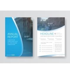 Cover design annual report vector image