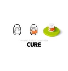 Cure icon in different style vector image