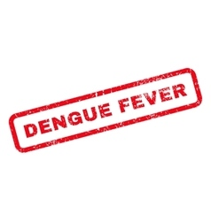 Dengue Fever Text Rubber Stamp vector image