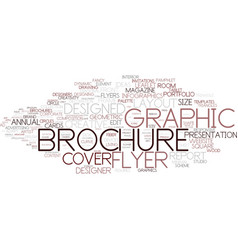 designed word cloud concept vector image