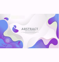 Dynamic style banner design with fluid color vector