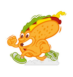 fast hot dog vector image