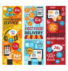 fastfood express delivery service vector image