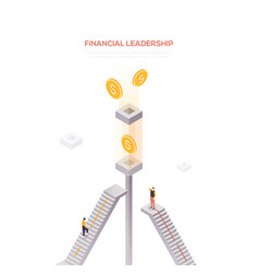 financial leadership - modern isometric web vector image
