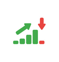 flat design style concept of sales or value bar vector image