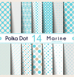 fourteen different round shape polka dot vector image