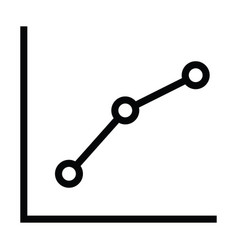 graph icon with dot connect outline style vector image